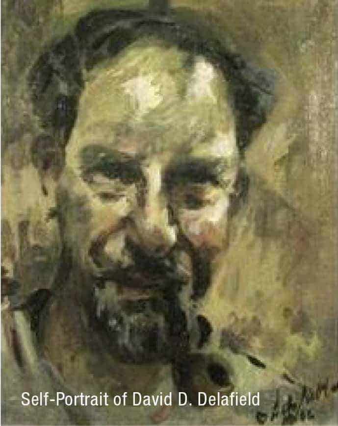 Self portrait of David Delafield