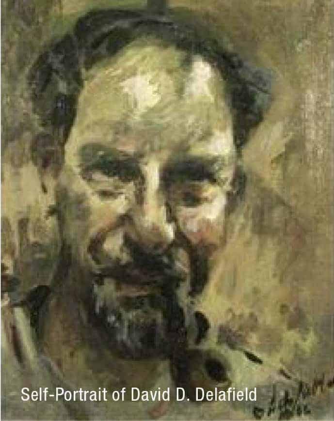 Self portrait of David Delafield