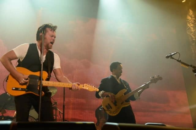 John Mellencamp and Jon. E. Gee on bass. Photo courtesy Sarah Wiley.